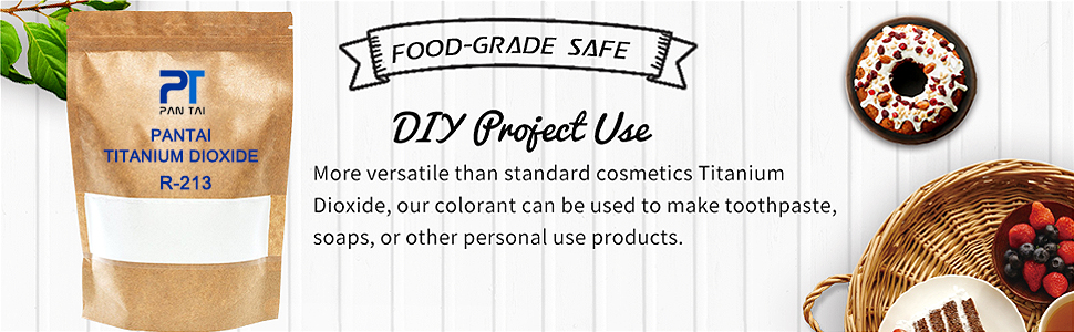 Pure Fine Titanium Dioxide (TiO2) Food-Grade Safe Colorant | Pigment,  Toothpaste, Edible Use | Vegan Friendly, Non-GMO | Resealable Bag (R-213)  ...