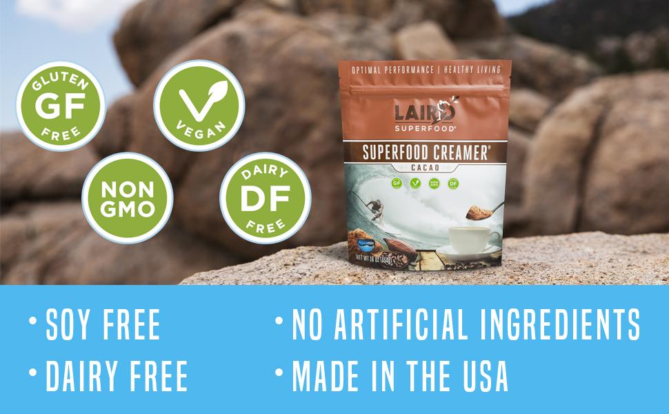 Laird Cacao Superfood Creamer, Food Enhancer - Non-Dairy, Gluten Free, Vegan, Non-GMO
