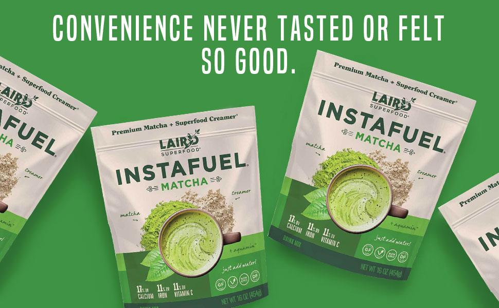 Laird Superfood Matcha Instafuel - Convenience never tasted or felt so good