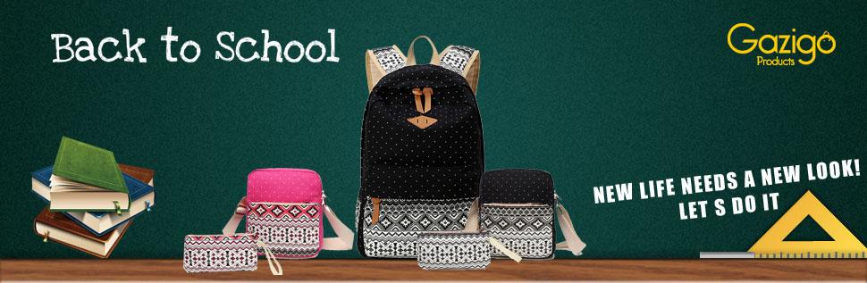 Backpack for high school Girls Gazigo Women s Lightweight Casual national  style Print Canvas Laptop Backpack - Fashion Cute Travel School College  Shoulder ... e947c2f611f58
