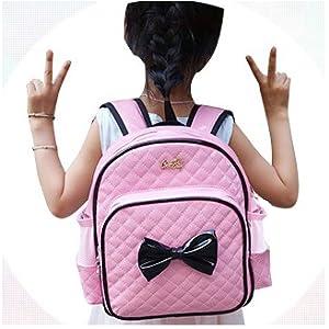 88405c1a0d Bow Waterproof Preschoo Kindergarten Kids Toddler Backpack Girls School  Book Bag PU Leahter