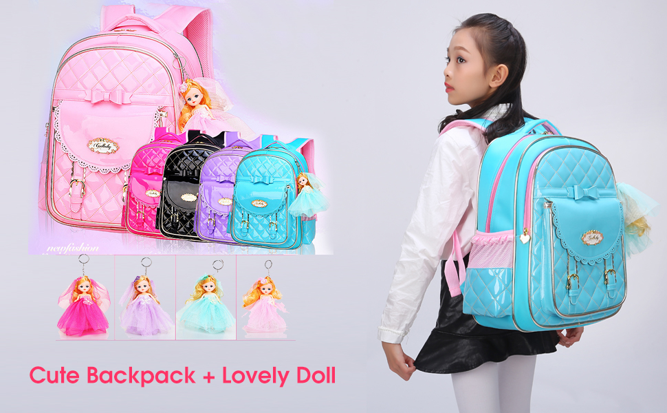 9481251c13 Backpack for Girls Waterproof Schoolbag for Kids with Bows Bookbag Gifts