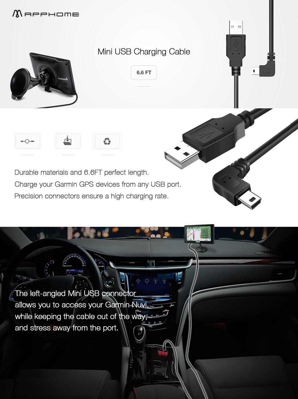 Mini Usb Charging Cable Compatible For Garmin Nuvi Wiring Micro Connector Product Description