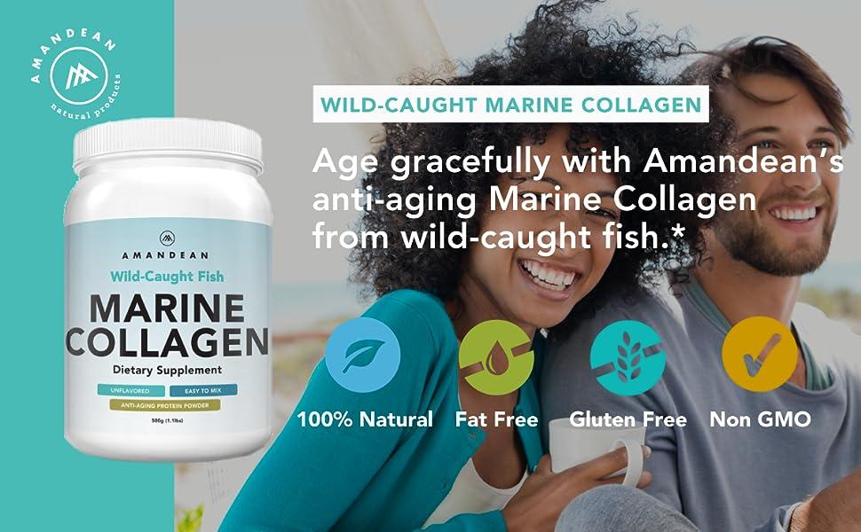 Anti-Aging Marine Collagen Powder, Wild-Caught Hydrolyzed Fish Collagen, Marine Collagen From Cod