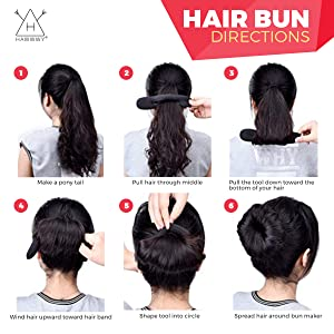 Small Brown Bun Ring Hair Donut Foam Bun Shaper for up dos Ballet 5.5 cm