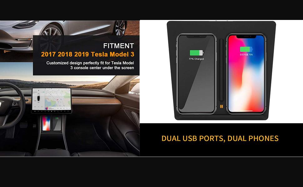 Amazon.com: EEIEER Cargador inalámbrico para Tesla modelo 3 ...