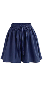 Women's Summer Chiffon Wide Leg Shorts