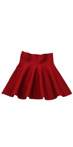Little Big Girls High Waist Knitted Flared Pleated Skater Skirt Casual