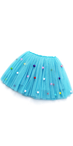Little Big Girls' 3 Layers Tulle Tutu Skirt Princess