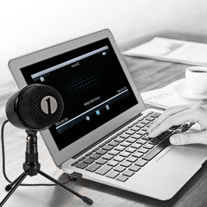 USB Microphone with Tripod, Mute Button with LED