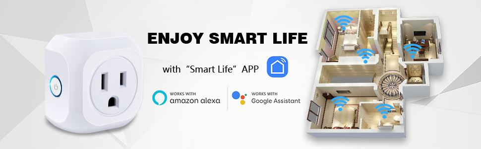 smart home plugs indoor smart plug pack works with alexa