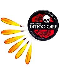 Tattoo Care Black Rose Calendula Flower