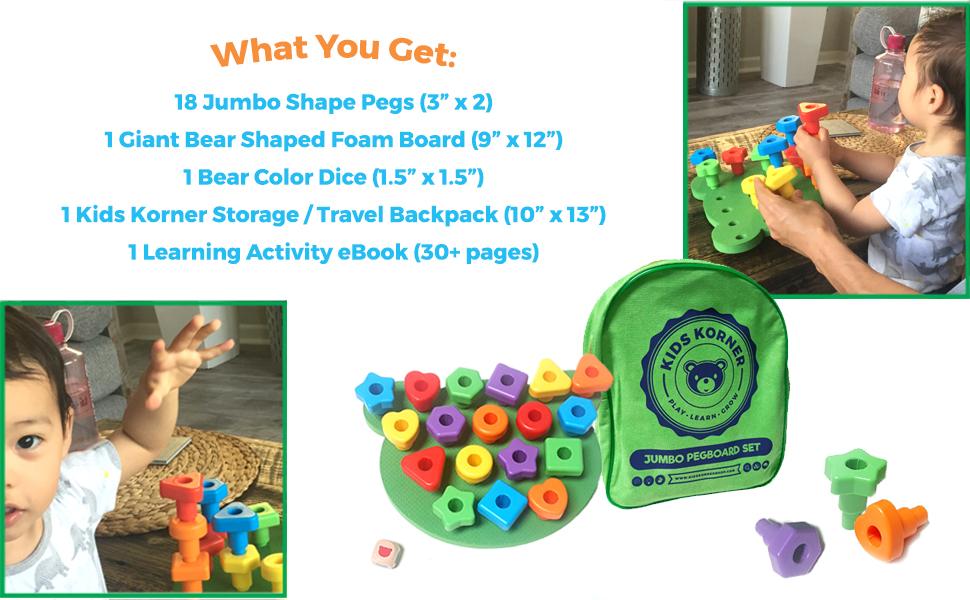 kids korner, stacking toys, toddler toys, lacing toys, toddler games, toys for toddlers, Montessori