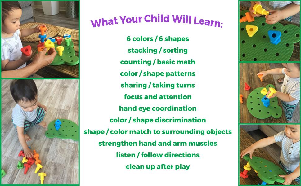 kids korner, kids toys, fine motor skills, stacking toys for toddlers, toddler games, Montessori toy