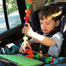 kids korner, toddler toys, travel toys, airplane toys, toddler games, stacking toys, lacing beads