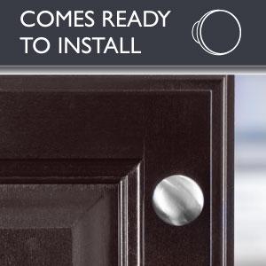 Ilyapa Round Cabinet Knob - Satin Nickel - Ready to Install