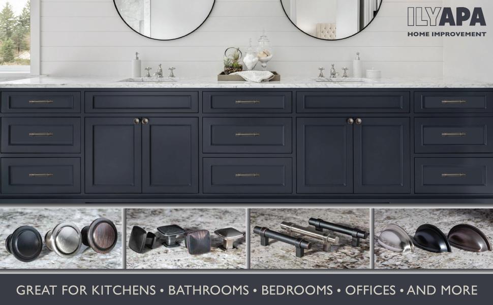 Ilyapa Home Improvement - Cabinet Hardware - Knobs - Pulls - Collection