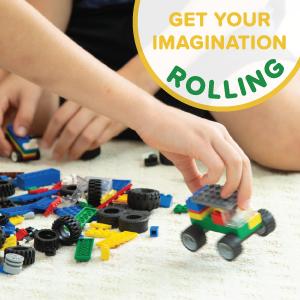 Play Platoon 500 Piece Building Bricks - Wheels and Tires Set - Imagination