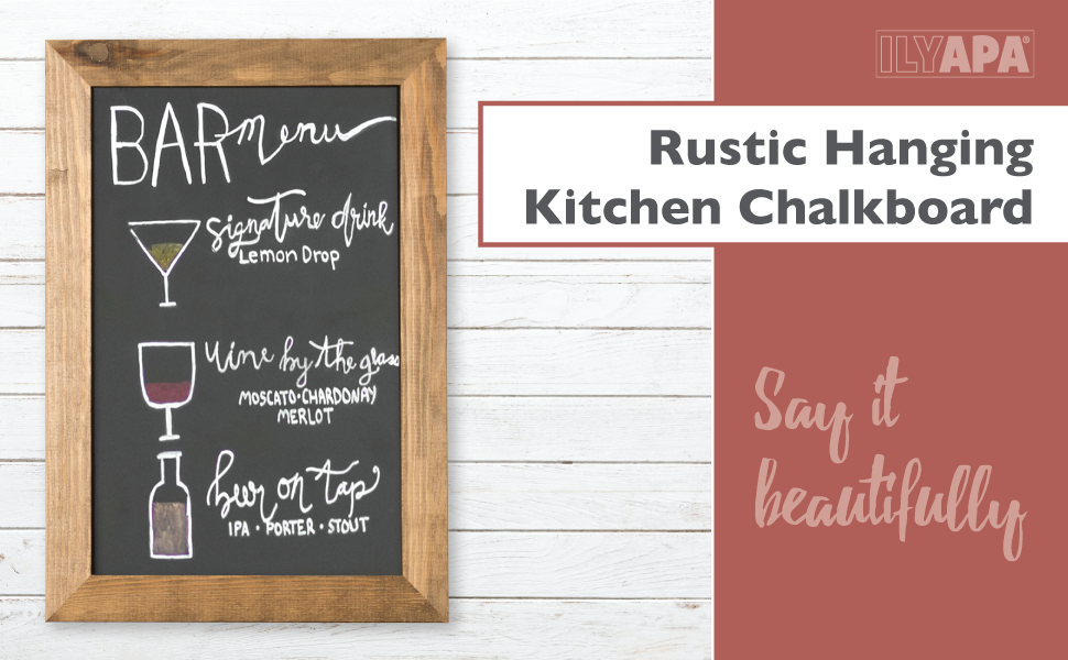 Amazon.com : Magnetic Kitchen Chalkboard Sign - 10x14 Inch Rustic ...