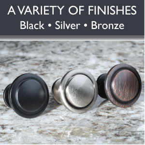 Ilyapa Cabinet Knobs - Round - Hardware - Variety of Finishes - Black - Silver - Bronze