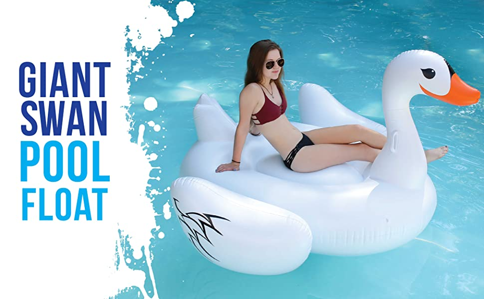 Giant Inflatable Swan Ducky Water Float Toy For Swimming Pool