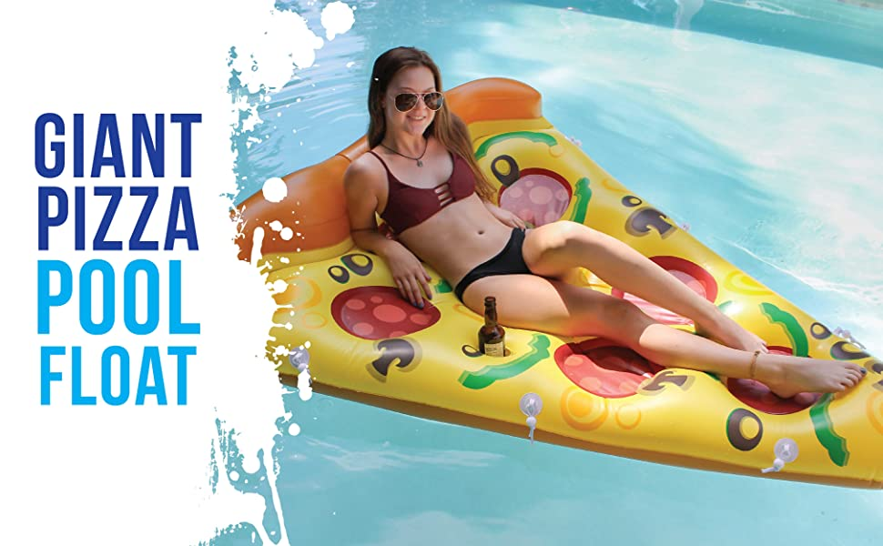 Do You Love Pool Floats? Then We Have The Perfect Pool Float For You! No  Pool Is Complete Without A Gigantic Inflatable Pizza Slice.