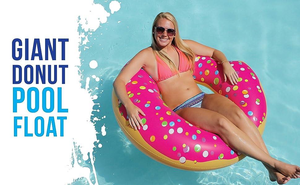 Amazon Com Play Platoon Jumbo Donut Pool Float Gigantic