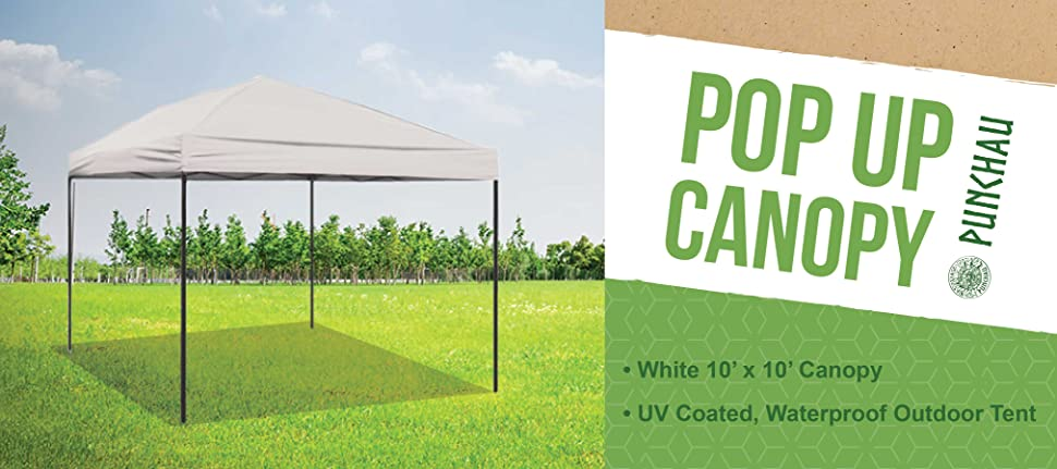 Enjoy your canopy tent rain or shine! UV coated to block out the sunu0027s harmful rays and waterproof to protect from the rain. Each 10 x 10 canopy ... & Amazon.com : Pop Up Canopy Tent 10 x 10 Feet White - UV Coated ...