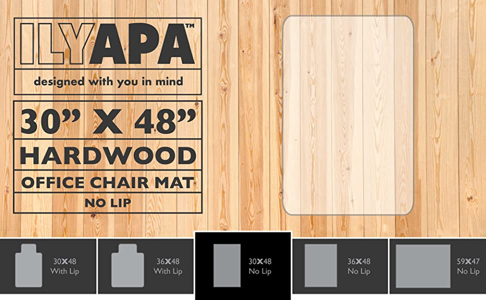 perfect office floor mat with lip for hardwood tile laminate concrete vinyl and any other type of hard flooring