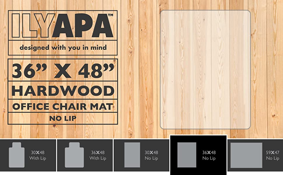 amazon com office chair mat for hardwood floors 36 x 48 floor