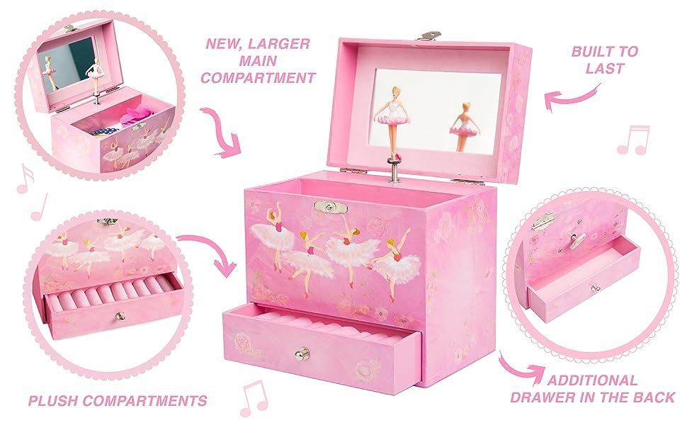 Amazoncom Play Platoon Ballerina Music Box for Girls Ballet