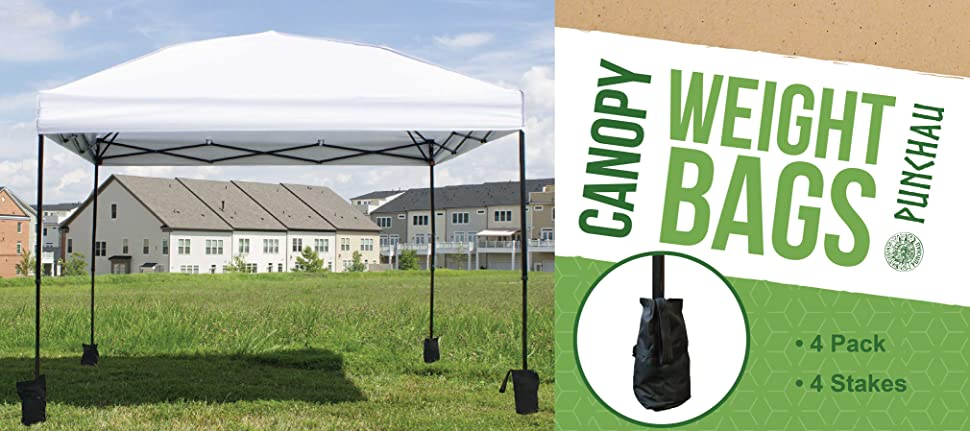 Great for securing pop up canopies patio umbrellas tripods and just about anything else! Simply fill each canopy weight bag with up to 22 pounds of sand ...  sc 1 st  Amazon.com & Amazon.com : Pop Up Canopy Weights - Set of 4 Weight Bags ...