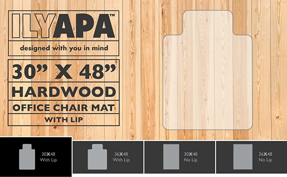 Amazoncom Office Chair Mat with Lip for Hardwood Floors 48 x 30