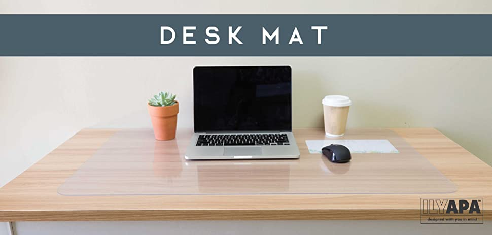 Amazoncom Office Desk Mat Clear 36 x 20 Inch Plastic Computer