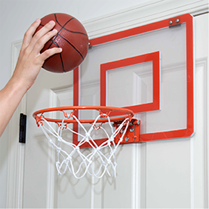 Amazon.com: Play Platoon Mini Basketball Hoop for Door - 16 x 12 Inch Bedroom Basketball Hoop Indoors Set, Black: Toys & Games