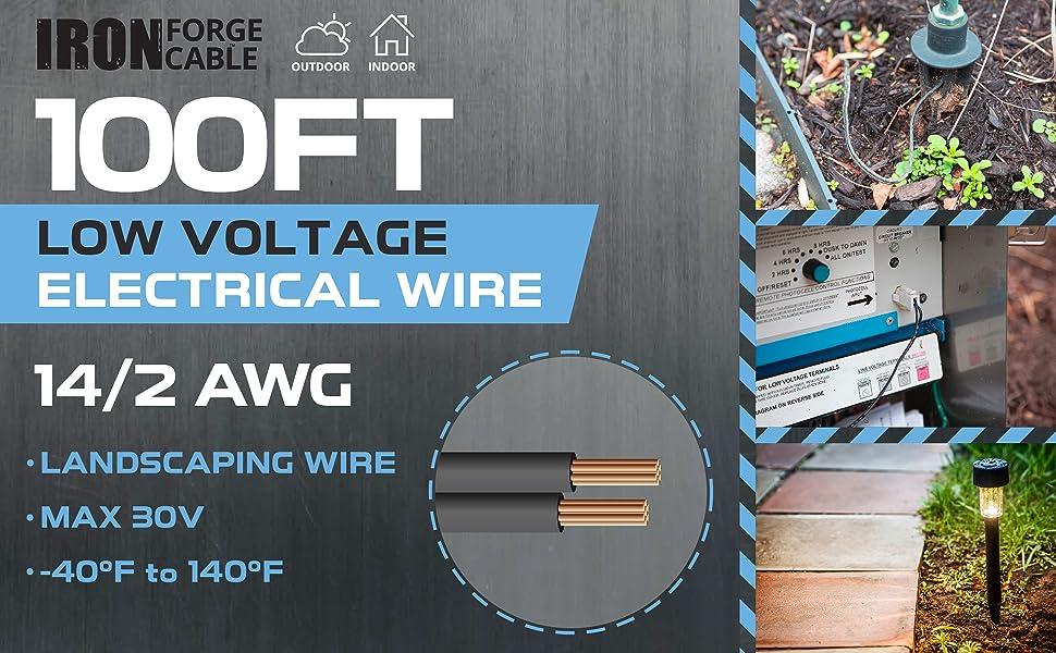 10f17c8da6e 14/2 Low Voltage Landscape Wire - 100ft Outdoor Low-Voltage Cable ...