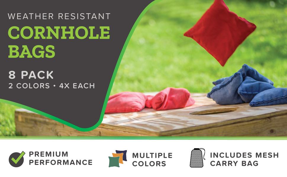 Play Platoon Cornhole Bags - Weather Resistant - 8 Pack