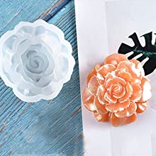 FineInno 4pcs Resin Silicone Molds Flower Casting Mold Resin Epoxy Pendants Jewelry Making Tools Necklace Earrings DIY Craft Molds