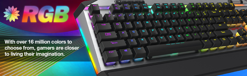 Viper Gaming keyboards mice headsets accessories peripherals rgb mechanical pc gaming V765