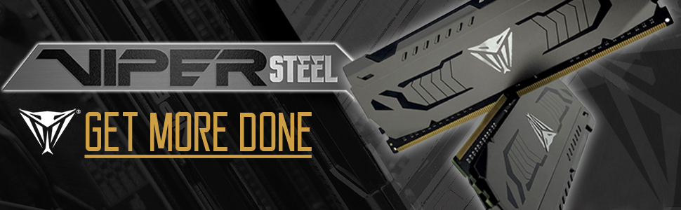 Patriot Viper Gaming Steel DDR4 DRAM aluminum steel look fast speed