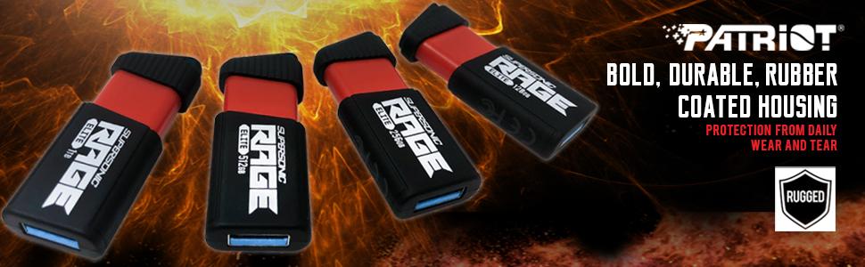 Patriot supersonic rage elite flash usb 3.1 gen. 1 extreme performance memory storage device