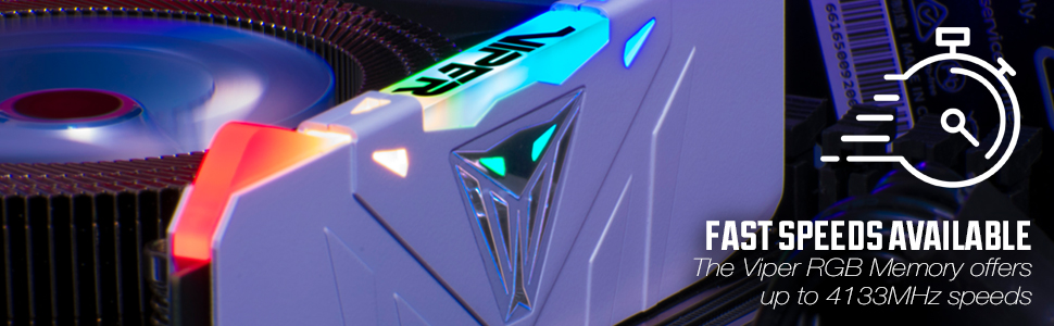 Viper Gaming RGB DDR performance memory DRAM heat shield fast extreme pc build system computer