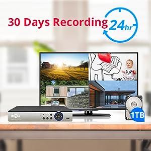 112  【5MP 8Channel】Hiseeu Security Camera System,H.265+ 8CH DVR + 4Pcs AHD Cameras,Global Phone&PC Remote,Human Detect Alarm,98Ft Night Vision,IP66 Waterproof,24/7 Recording,Easy Setup,Plug & Play,1TB HDD 1818c651 1ce8 4ddb bcad e15f42024063