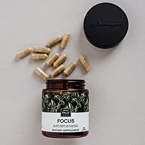 Focus |All-Natural Brain Booster (60 ea)-Nootropic for Memory & Mental  Clarity - with Ginkgo Biloba,