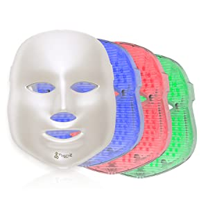Amazon Com Project E Beauty 3 Color Led Mask Photon Light Skin Rejuvenation Therapy Facial