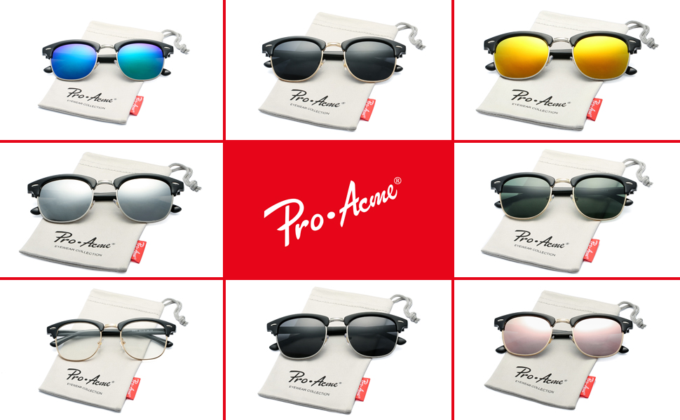 Pro Acme Clubmaster Classic sunglasses are retro and timeless. Inspired by the 50s, the unmistakable design of the Clubmaster Classic is worn by cultural ...