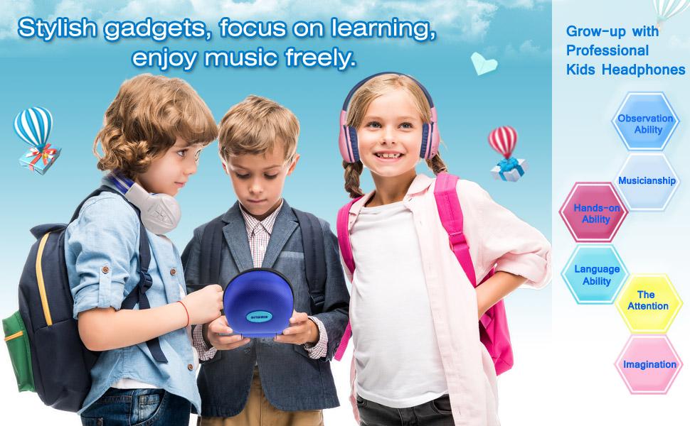 Travel partner-professional kids wireless bluetooth headphones