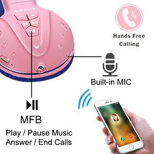 wireless headphones with mic for hands free calling