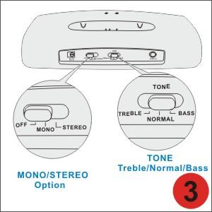 Tone, MONO, STEREO adjustment