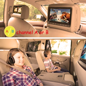 dual channel car ir headphones
